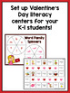 Valentine's Day Literacy Centers and Activities {Kindergarten & First Grade}