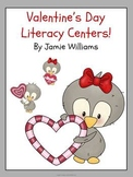 Valentine's Day Literacy Centers for grades 1-3