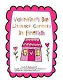 Valentine's Day Literacy Centers in English
