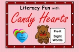 Valentine's Day Literacy Fun with Candy Hearts - Pre-K Sight Words