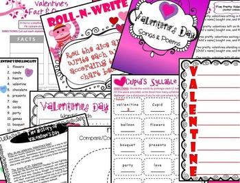 Valentine's Day Literacy, Math, Craftivities & Fun!