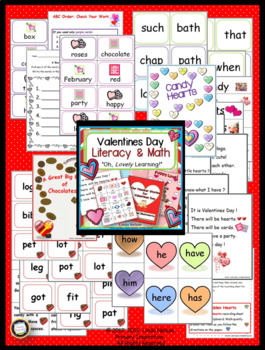 Valentines Day Literacy and Math
