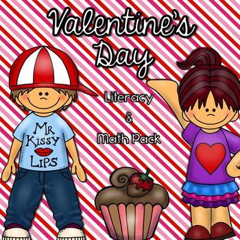 Valentine's Day Literacy & Math Pack