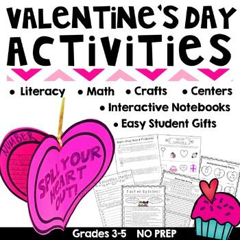 Valentine's Day Craft, Math & Reading Activities