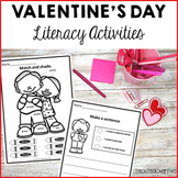 Valentine's Day literacy center activities sentence work nouns verbs adjectives
