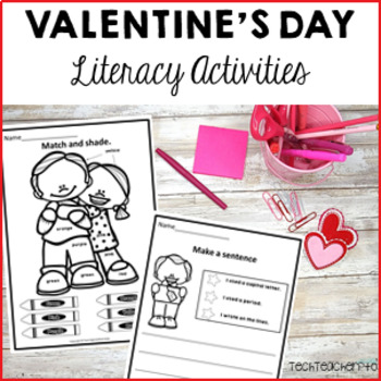 Valentines Day Literacy Pack - sentence writing & grammar