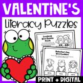 Valentine's Day Activities: Valentine's Day Literacy Puzzl