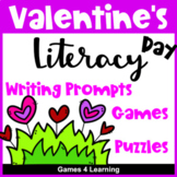 Valentine's Day Activities: Valentine's Day Literacy Puzzl