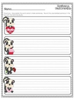My Stinky Valentine {Literacy Stations}