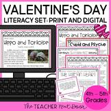 Valentine's Day Literacy Set   Valentine's Day Activities