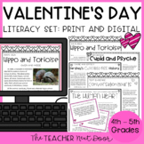 Valentine's Day Literacy Set Print and Digital Distance Learning