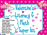 Valentine's Day Literacy and Math Fun Kit