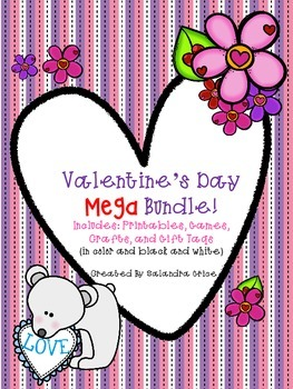 Valentine's Day  Literacy and Math Mega Bundle
