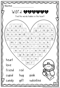 Valentines Day Literacy and Math Pack