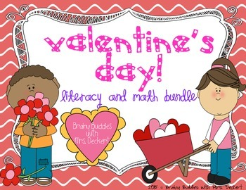 Valentine's Day Literacy and Math Packet