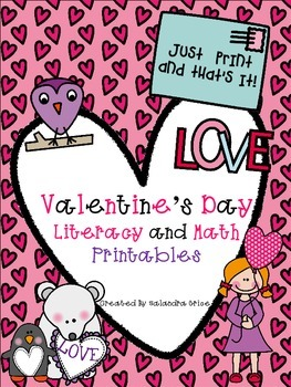 Valentine's Day Literacy and Math Printables