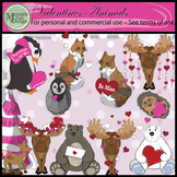 Valentine's Day Lovable Animals Clip Art Set {Messare Clips and Design}
