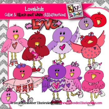 Valentine's Day Love Birds Clip Art