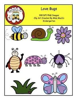 Valentine's Day Love Bug Clip Art