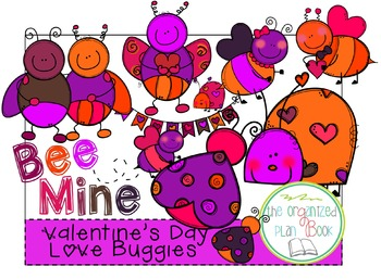Valentine's Day Love Bugs Clipart