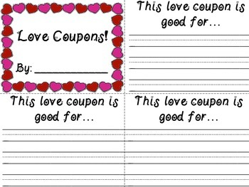 Valentine's Day Love Coupons