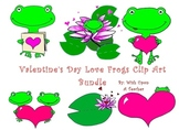 Valentine's Day Love Frogs Clipart
