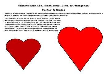 Valentine's Day Love Heart Promise for Behaviour Management