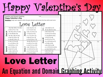 Valentine's Day - Love Letter - A Linear Equation Graphing