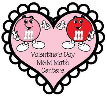 Valentine's Day M&M Math Centers