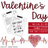 Valentine's Day - Mad Gab - Silly Lib - Grammar Activity