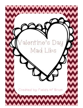 Valentine's Day Mad Libs Activity Pages