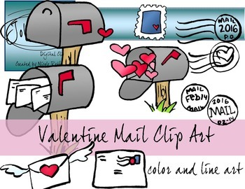 Valentines Day Mail Clip Art