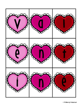 Valentine's Day Making Words Activity