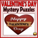 Valentine's Day Puzzle Activities Heart Shape Map Grids