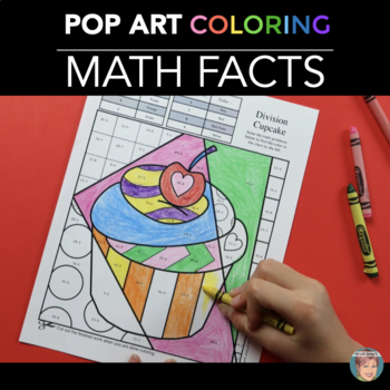 Valentines Day Math Review Coloring Sheets By Art With Jenny K Tpt - pop art coloring sheets