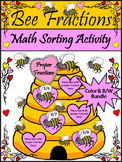 Valentine's Day Activity: Bee Fractions Valentine's Day Ma