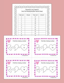 Valentines Day Math - Addition
