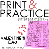 Valentines Day Math Print & Practice