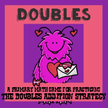 Valentines Day Math - A Doubles Strategy Addition Game - 3