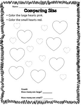 Valentine's Day Math Activities - K - 2