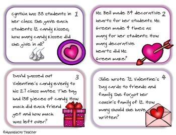 Valentine's Day Math Activities - 4th Grade - Common Core Aligned