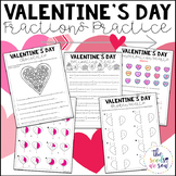 Valentines Day Math | Fractions Practice