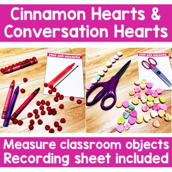Valentines Day Math Activities | Non standard measurement