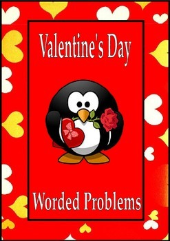 Valentine's Day Math Activities Worded Problems 5th 6th 7th