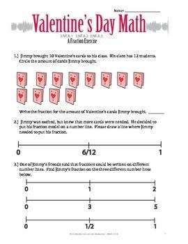 Valentine's Day Math Activitiy - Fractions