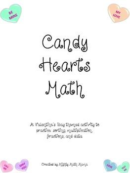 Valentine's Day Math Activity with Conversation Hearts, Intermediate edition