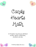 Valentine's Day Math Activity with Conversation Hearts, In