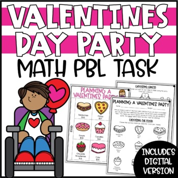 Valentines Math Activity - Plan a Valentine's Day Party