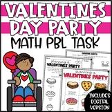 Valentines Math Activity - Plan a Valentine's Day Party