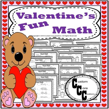 Valentines Day Math Adding/Subtracting Hearts